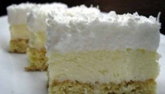 Prajitura Fulg de nea – Reteta usoara pentru platoul cu prajituri de sarbatori